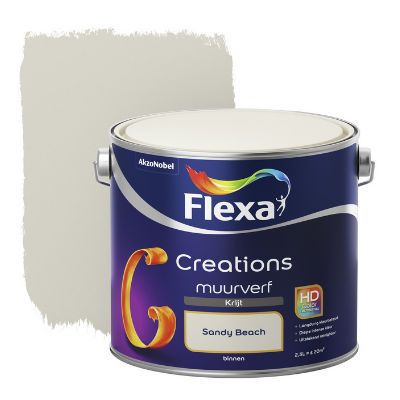 2,5 ltr Flexa Creations muurverf Krijt Sandy Beach