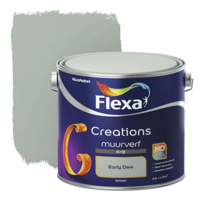 2,5 ltr Flexa Creations muurverf Krijt Early Dew