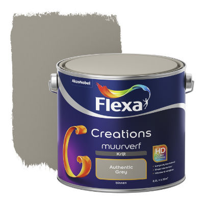 Flexa Creations muurverf Krijt Authentic Grey