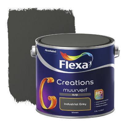 Flexa Creations muurverf Krijt Industrial Grey